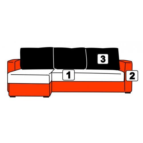 Угловой диван Davidos Golf пружинный блок
